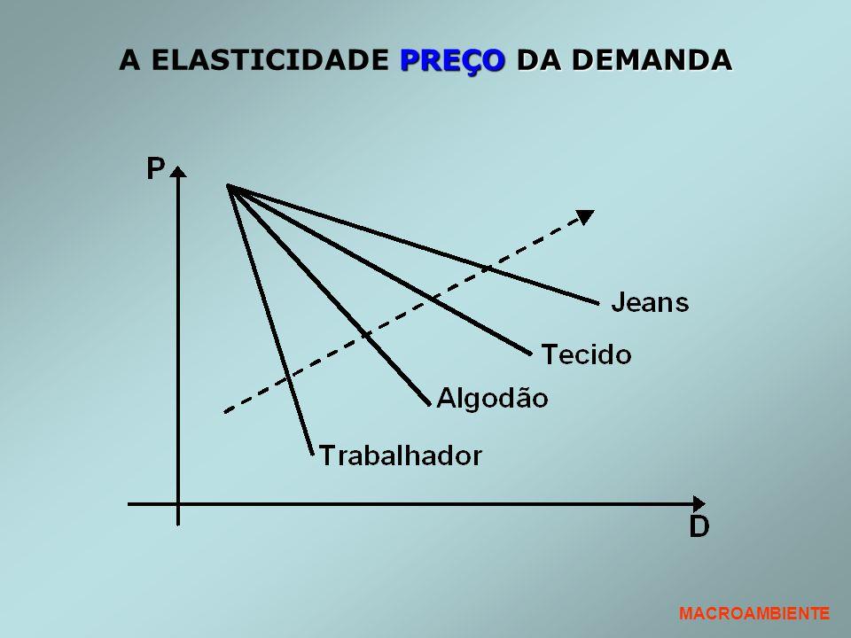PREÇO DA DEMANDA A ELASTICIDADE PREÇO DA DEMANDA MACROAMBIENTE