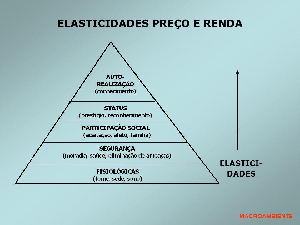 ELASTICIDADES PREÇO E RENDA ELASTICI- DADES MACROAMBIENTE