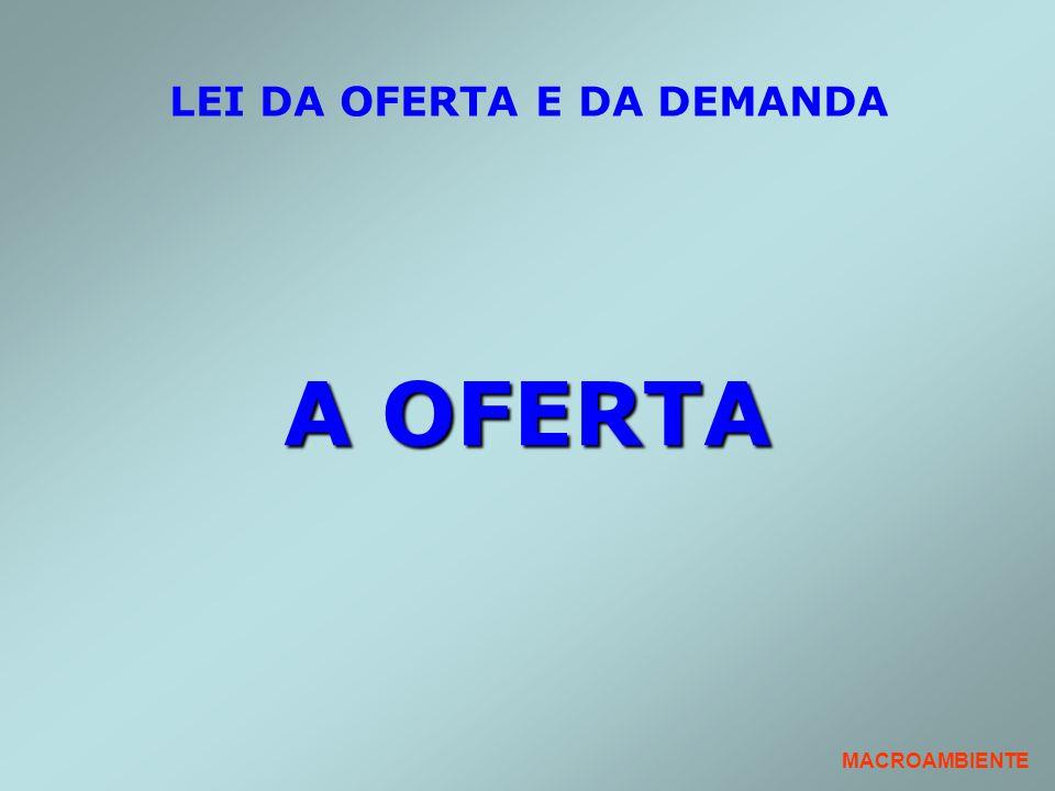 LEI DA OFERTA E DA DEMANDA A OFERTA MACROAMBIENTE
