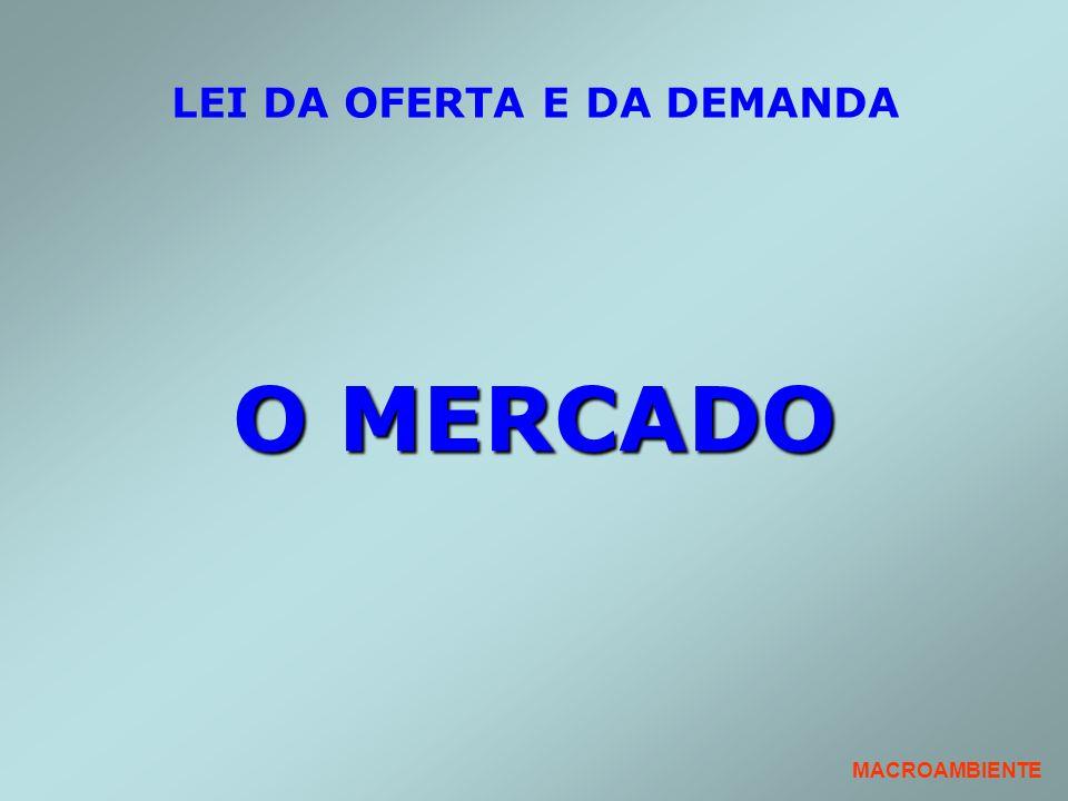 LEI DA OFERTA E DA DEMANDA O MERCADO MACROAMBIENTE