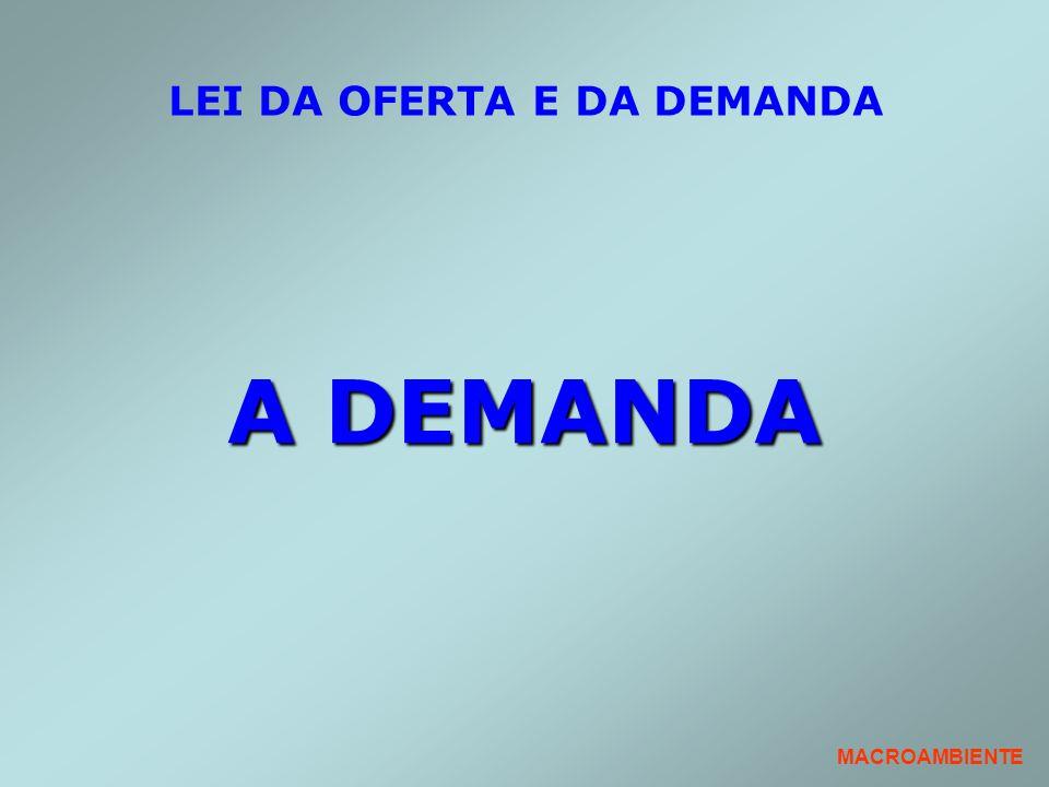 LEI DA OFERTA E DA DEMANDA A DEMANDA MACROAMBIENTE