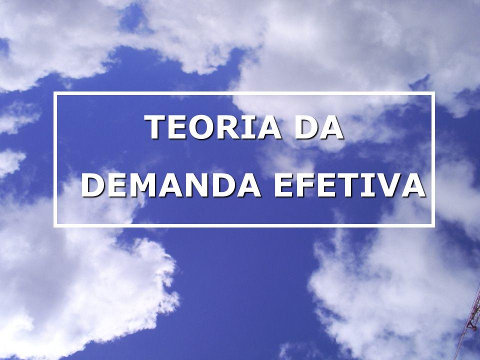 TEORIA DA DEMANDA EFETIVA