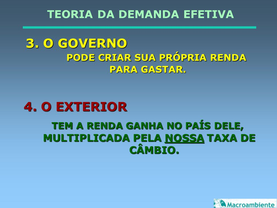 COMPOSIÇÃO DA DEMANDA AGREGADA (BILHÕES DE REAIS)