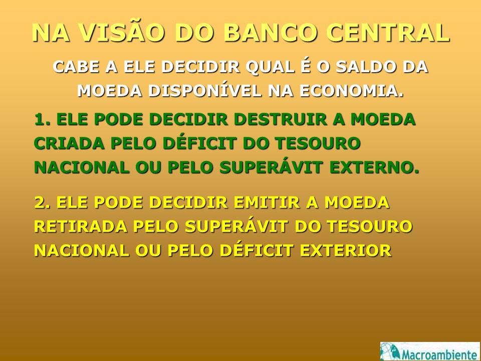 NA VISÃO DO BANCO CENTRAL 1.