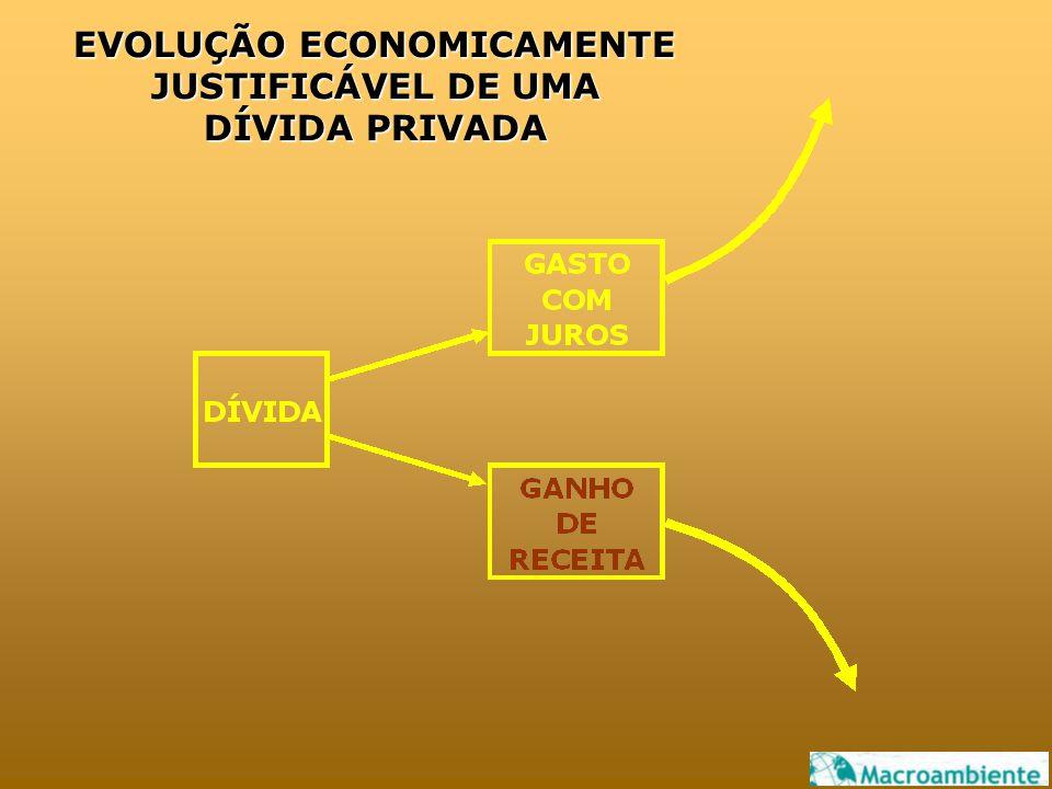 EVOLUÇÃO ECONOMICAMENTE JUSTIFICÁVEL DE UMA DÍVIDA PRIVADA EVOLUÇÃO ECONOMICAMENTE JUSTIFICÁVEL DE UMA DÍVIDA PRIVADA