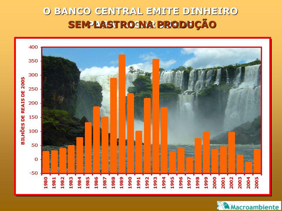 O BANCO CENTRAL EMITE DINHEIRO PARA PAGAR JUROS SEM LASTRO NA PRODUÇÃO