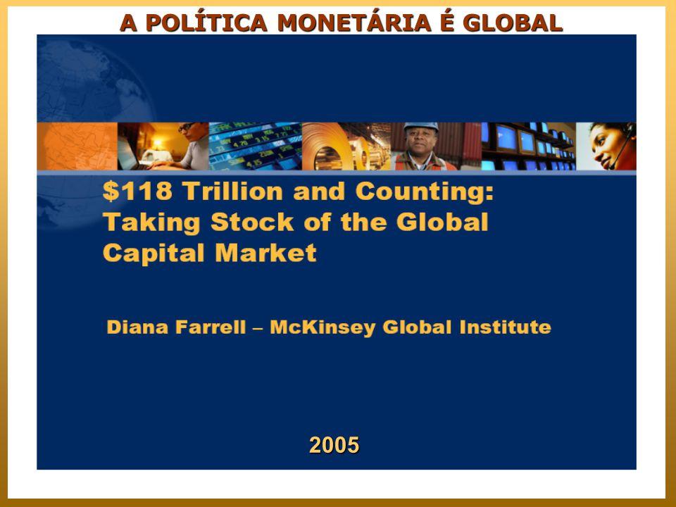 A POLÍTICA MONETÁRIA É GLOBAL 2005
