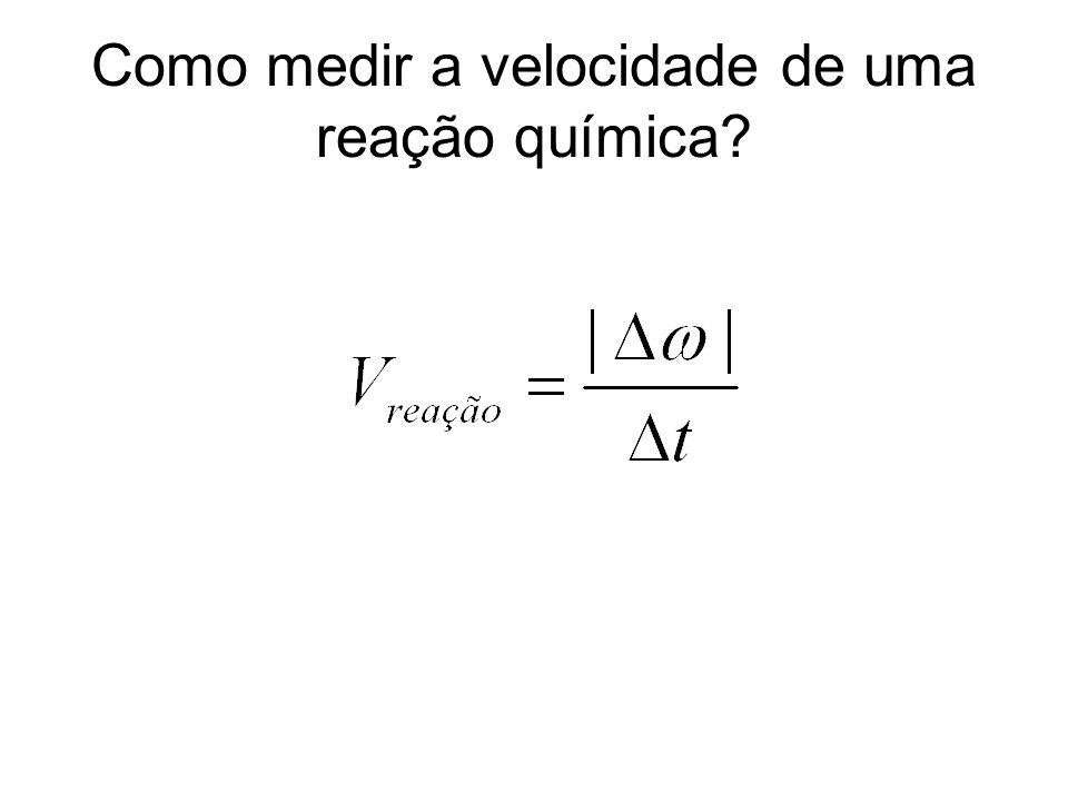 Como medir a velocidade de uma reação química?