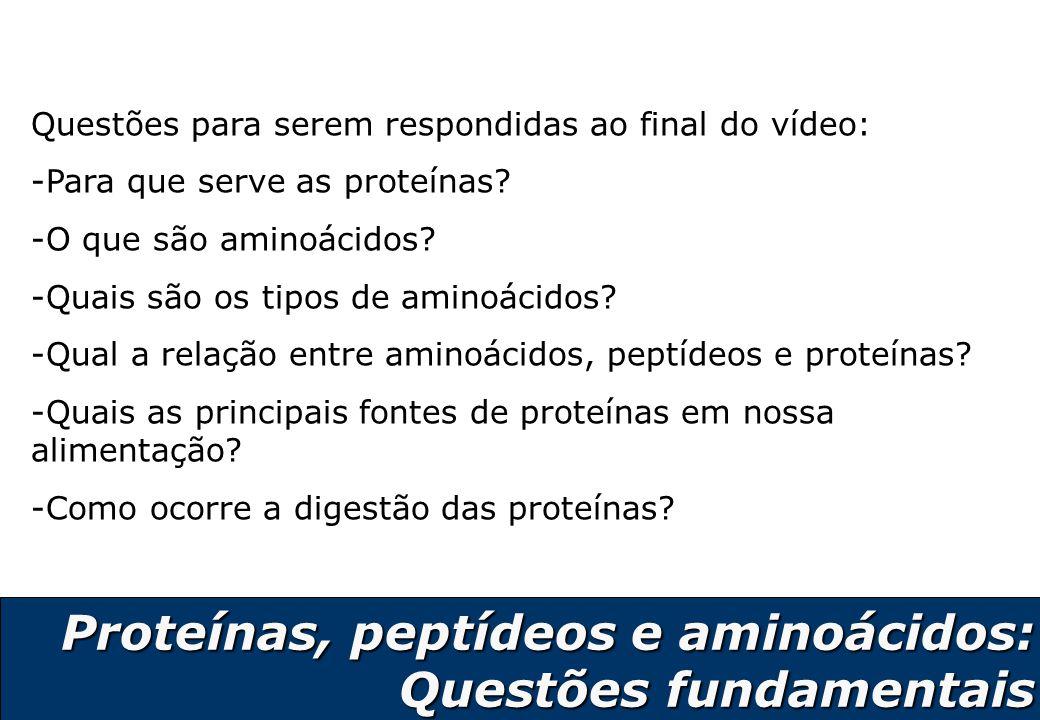 3 Vídeo sobre aminoácidos, peptídeos e proteínas http://web.ccead.puc- rio.br/condigital/video/e%20tempo%20de%20quimica/alimentos /peptideos/video%20para%20web/video.html