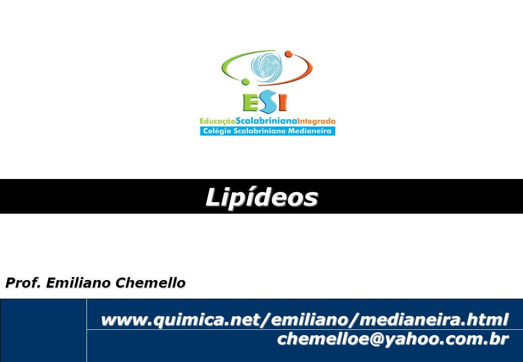 1 emiliano@quimica.net Lipídeos www.quimica.net/emiliano/medianeira.htmlchemelloe@yahoo.com.br Prof. Emiliano Chemello