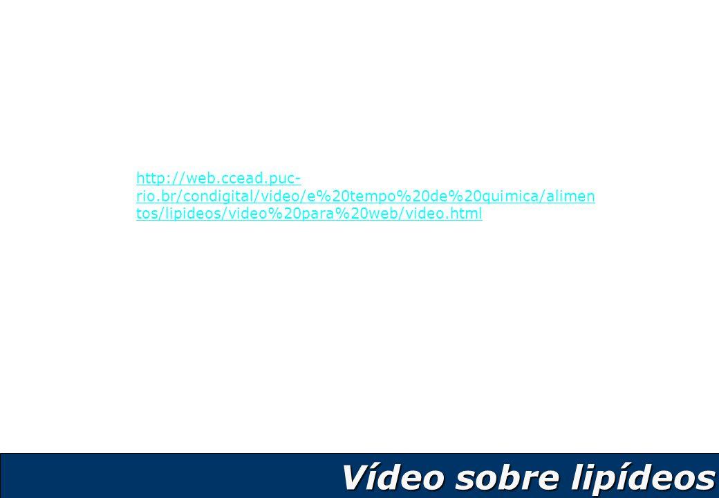 3 http://web.ccead.puc- rio.br/condigital/video/e%20tempo%20de%20quimica/alimen tos/lipideos/video%20para%20web/video.html Vídeo sobre lipídeos
