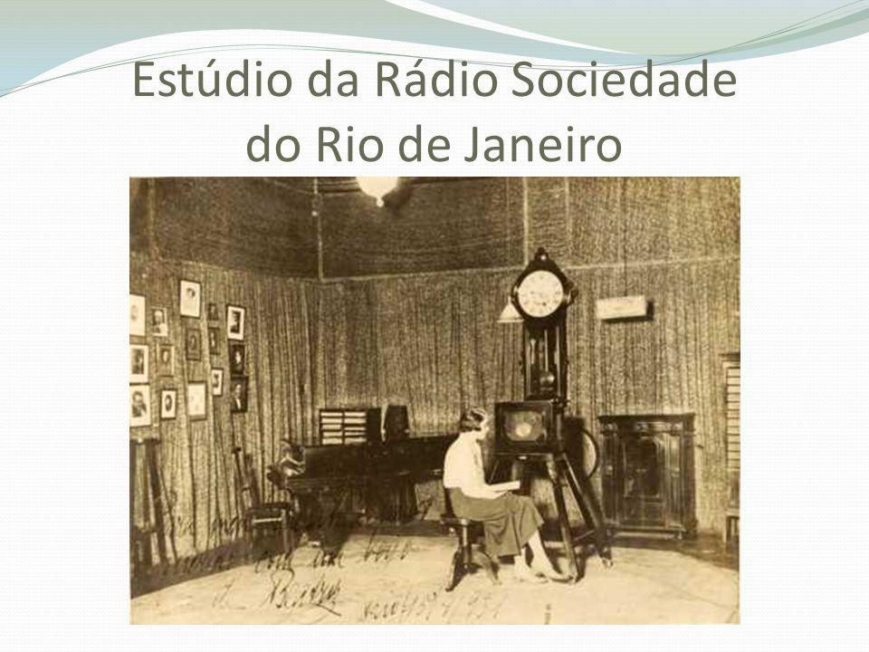 Estúdio da Rádio Sociedade do Rio de Janeiro