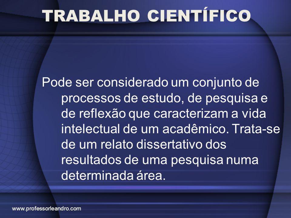 Pode ser considerado um conjunto de processos de estudo, de pesquisa e de reflexão que caracterizam a vida intelectual de um acadêmico. Trata-se de um