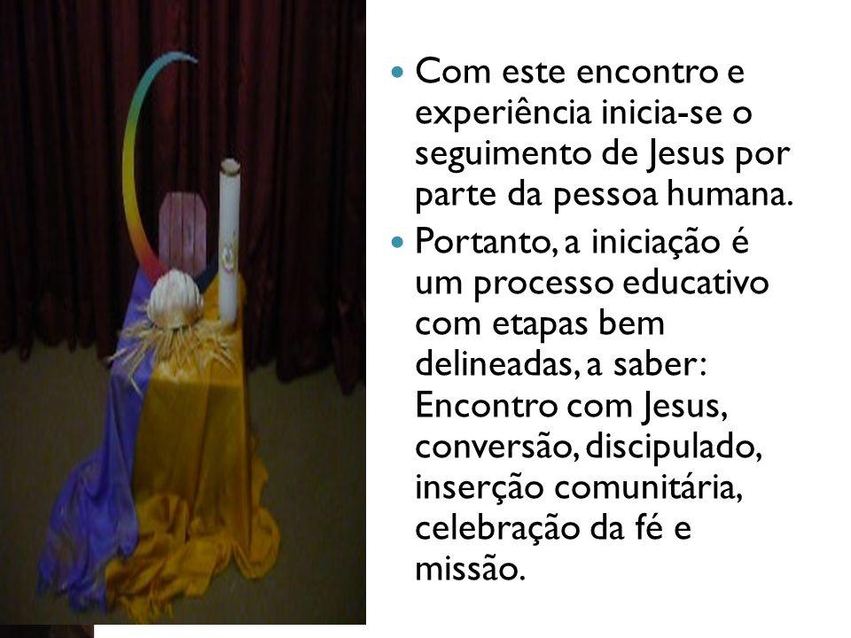 Com este encontro e experiência inicia-se o seguimento de Jesus por parte da pessoa humana.