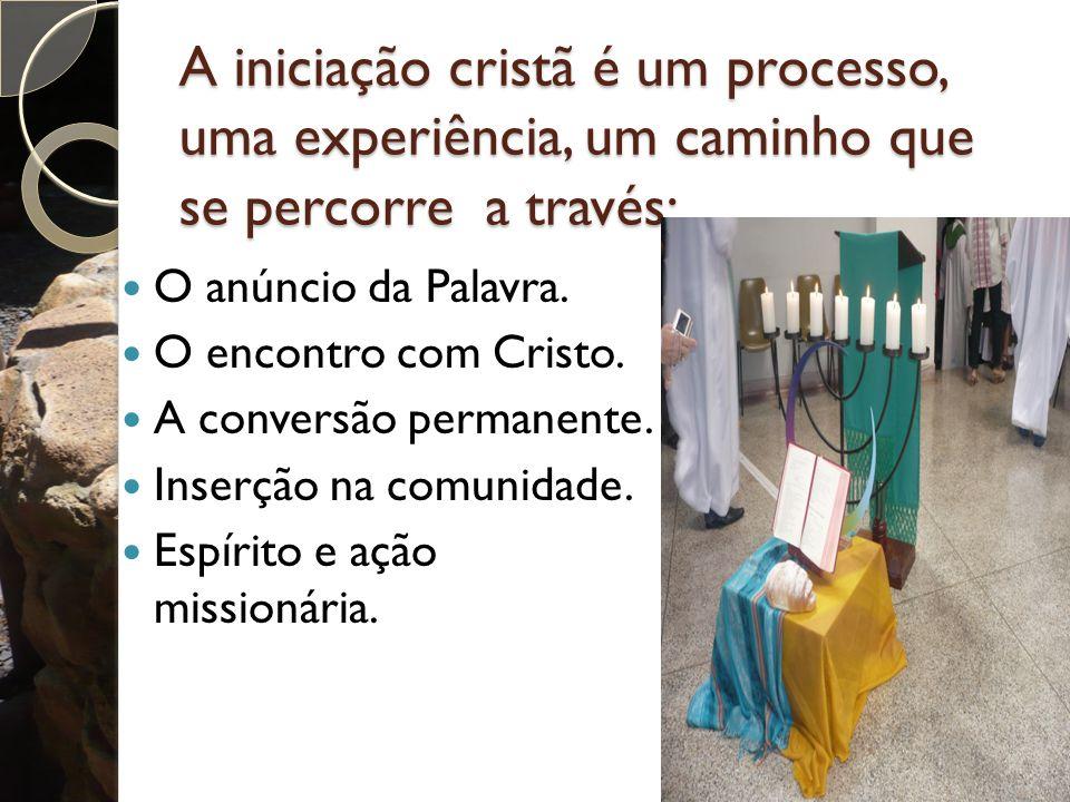 A iniciação cristã é um processo, uma experiência, um caminho que se percorre a través: O anúncio da Palavra.