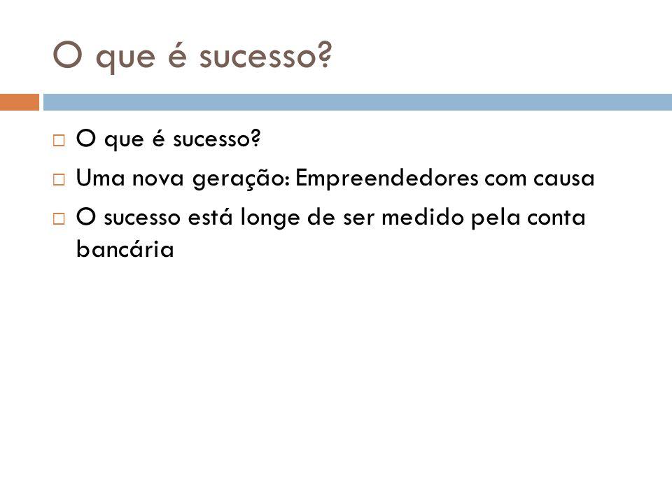 O que é sucesso. O que é sucesso.