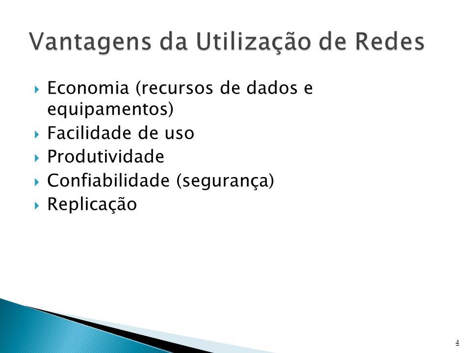  Economia (recursos de dados e equipamentos)  Facilidade de uso  Produtividade  Confiabilidade (segurança)  Replicação 4