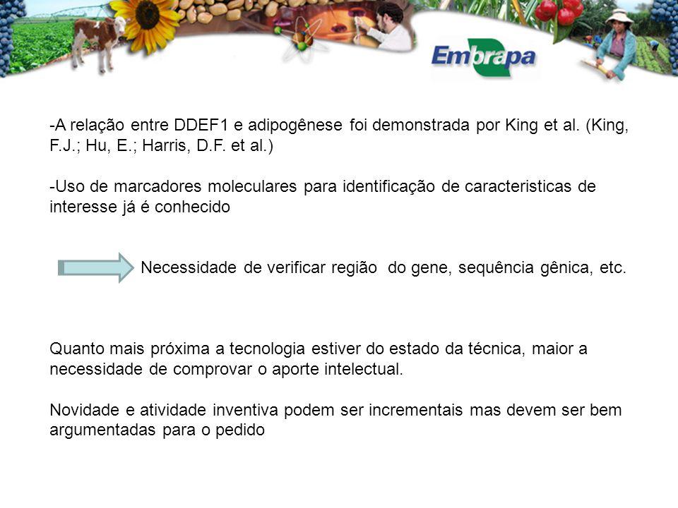 -A relação entre DDEF1 e adipogênese foi demonstrada por King et al.