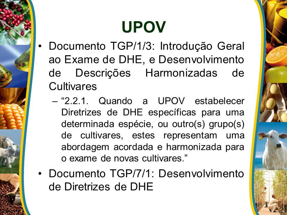 """Documento TGP/1/3: Introdução Geral ao Exame de DHE, e Desenvolvimento de Descrições Harmonizadas de Cultivares –""""2.2.1. Quando a UPOV estabelecer Dir"""