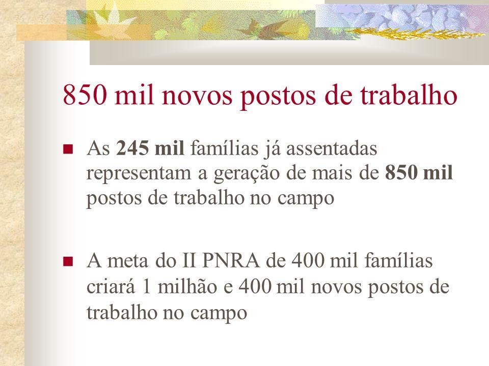 Desempenho do Triênio 2003/05 frente a história do Incra