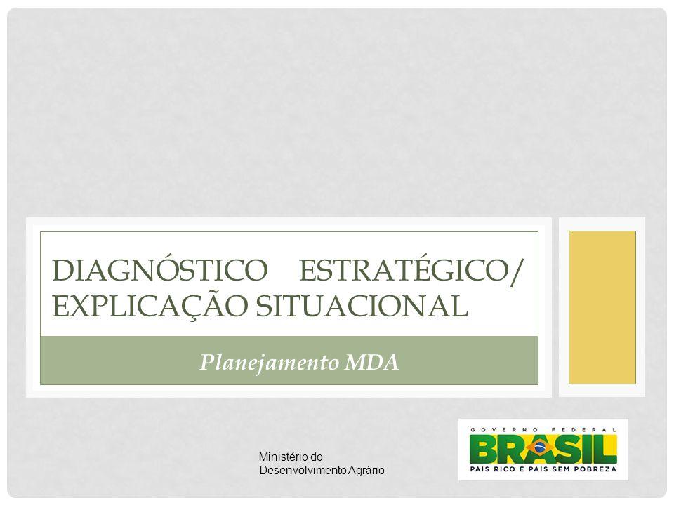 DIAGNÓSTICO ESTRATÉGICO/ EXPLICAÇÃO SITUACIONAL Planejamento MDA Ministério do Desenvolvimento Agrário