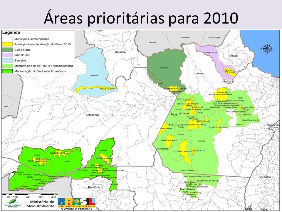 Áreas prioritárias para 2010