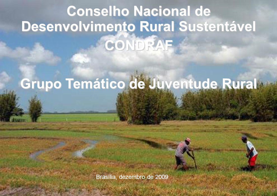 Conselho Nacional de Desenvolvimento Rural Sustentável CONDRAF Grupo Temático de Juventude Rural Brasília, dezembro de 2009