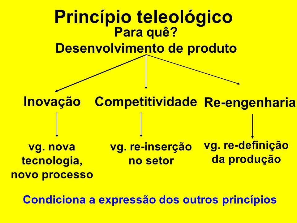 Princípio teleológico Para quê. Conhecimento Descritiva Exploratória vg.