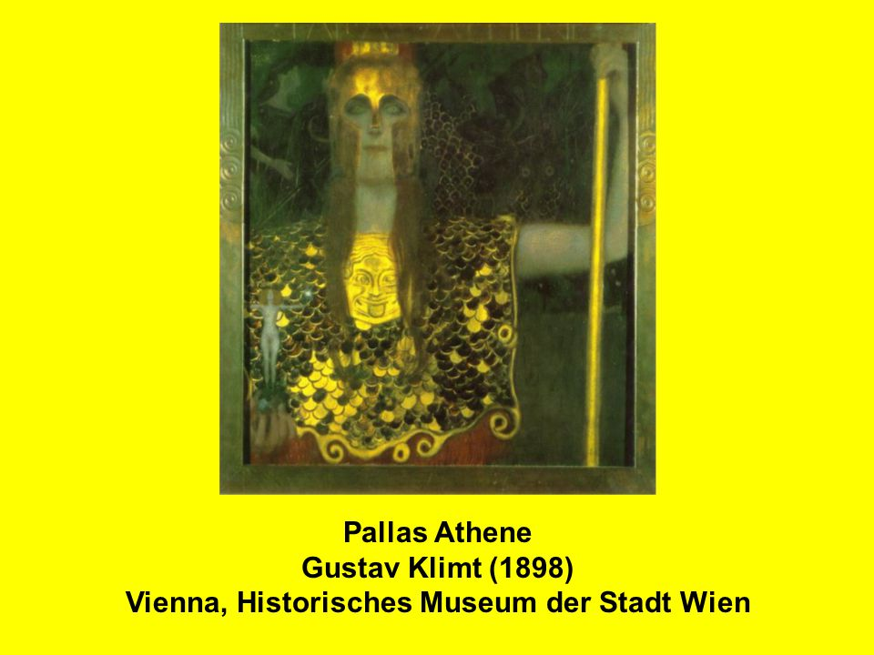 Pallas Athene Gustav Klimt (1898) Vienna, Historisches Museum der Stadt Wien