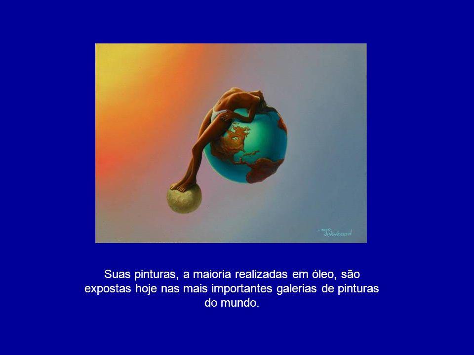 Inicialmente influenciado por pintores como Salvador Dali, desenvolveu um estilo único e inimitável.