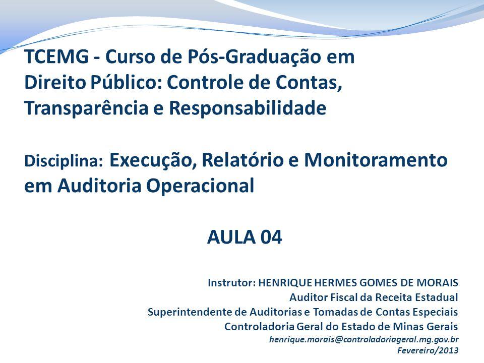 RELATÓRIO DE AUDITORIA O Relatório de Auditoria é o documento produzido pela equipe a ser encaminhado ao gestor do programa, para ciência das ocorrências detectadas e correspondentes recomendações.