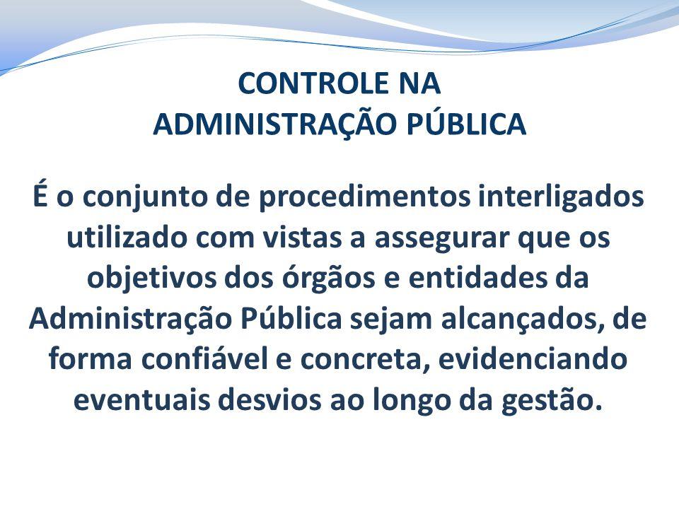 É o conjunto de procedimentos interligados utilizado com vistas a assegurar que os objetivos dos órgãos e entidades da Administração Pública sejam alc
