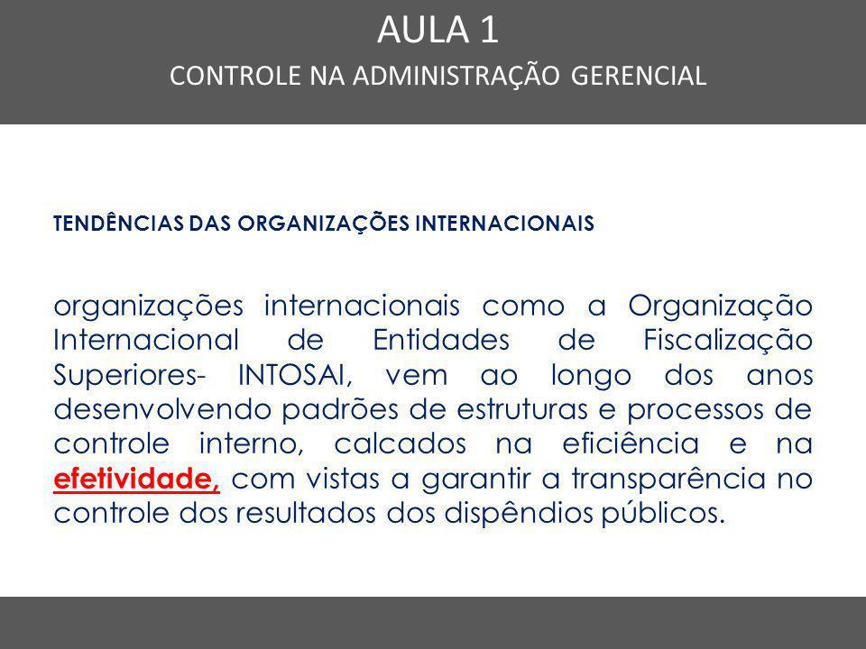 Nome do Curso em uma linha AULA 1 CONTROLE NA ADMINISTRAÇÃO GERENCIAL TENDÊNCIAS DAS ORGANIZAÇÕES INTERNACIONAIS organizações internacionais como a Or