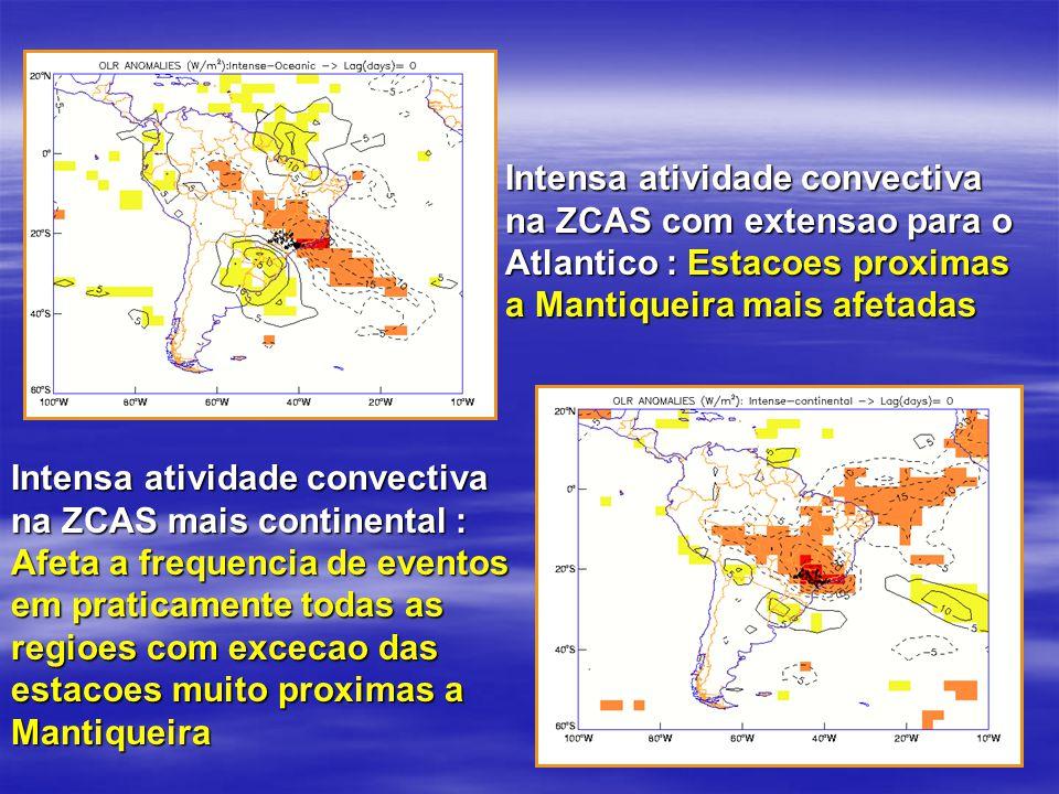 Intensa atividade convectiva na ZCAS com extensao para o Atlantico : Estacoes proximas a Mantiqueira mais afetadas Intensa atividade convectiva na ZCA