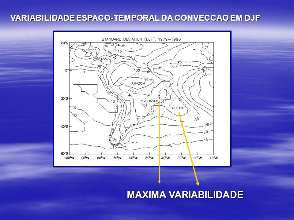 VARIABILIDADE ESPACO-TEMPORAL DA CONVECCAO EM DJF MAXIMA VARIABILIDADE