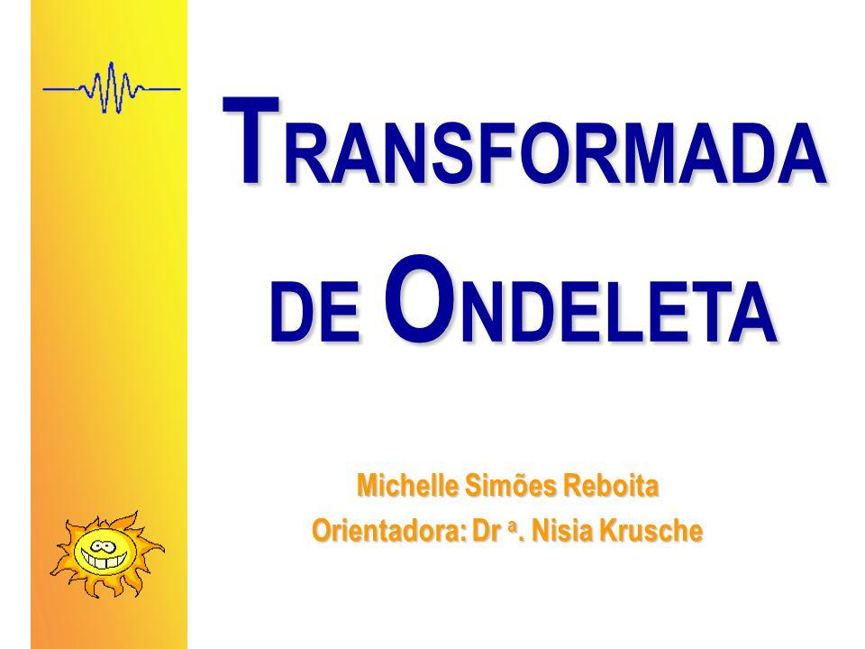T RANSFORMADA DE O NDELETA Michelle Simões Reboita Orientadora: Dr a. Nisia Krusche