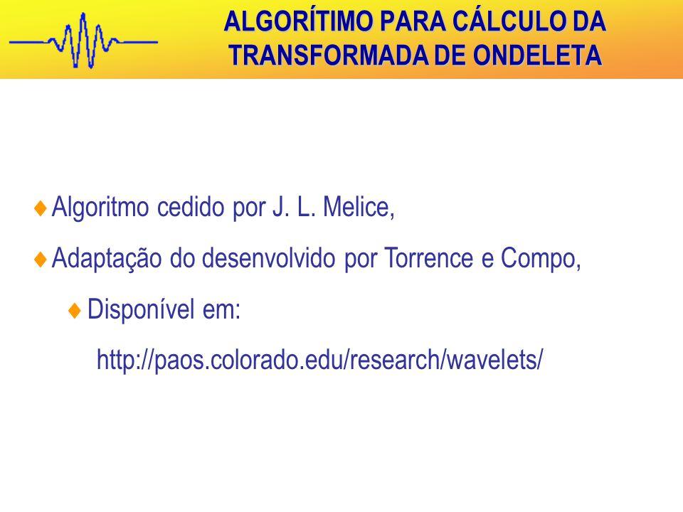  Algoritmo cedido por J.L.