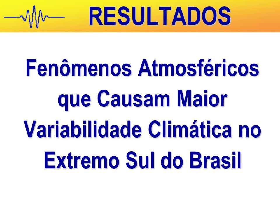 Fenômenos Atmosféricos que Causam Maior Variabilidade Climática no Extremo Sul do Brasil RESULTADOS
