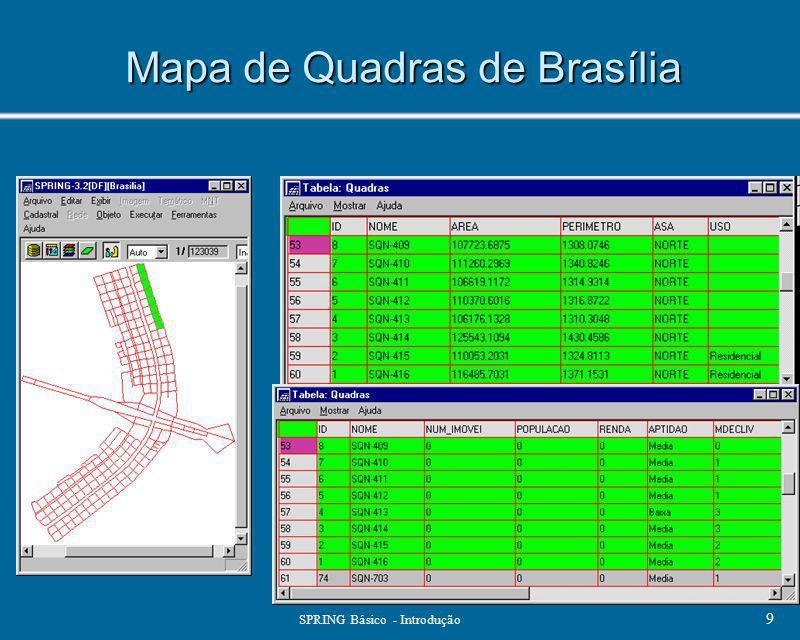 SPRING Básico - Introdução 9 Mapa de Quadras de Brasília