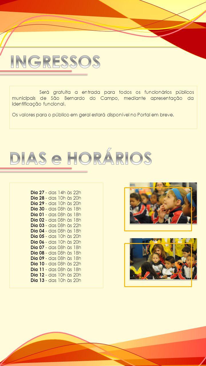 Será gratuita a entrada para todos os funcionários públicos municipais de São Bernardo do Campo, mediante apresentação da identificação funcional. Os