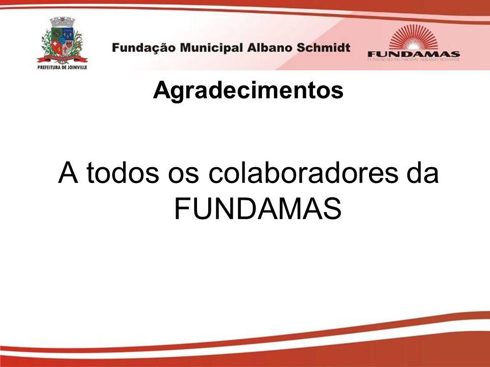 Agradecimentos A todos os colaboradores da FUNDAMAS