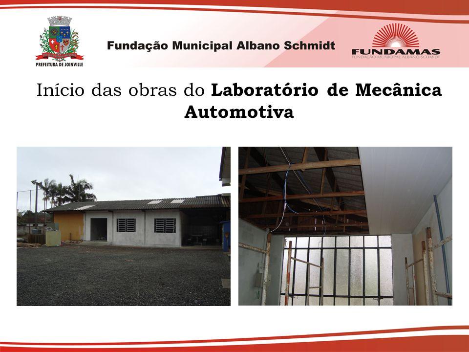 Início das obras do Laboratório de Mecânica Automotiva