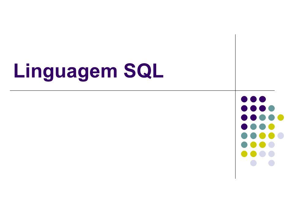 Introdução SQL (Structured Query Language): desenvolvida pela IBM (70) como parte do sistema System R.