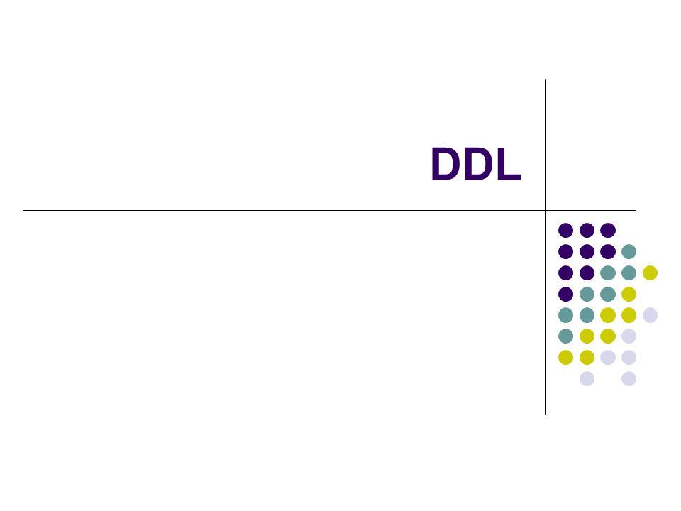  Os comandos SQL para definição de dados são:  CREATE: criação de novas estruturas  DROP: remoção de estruturas  ALTER: alteração de estruturas