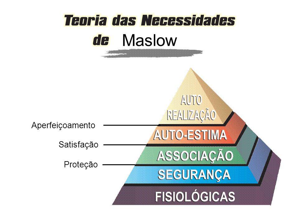 Aperfeiçoamento Satisfação Proteção Maslow