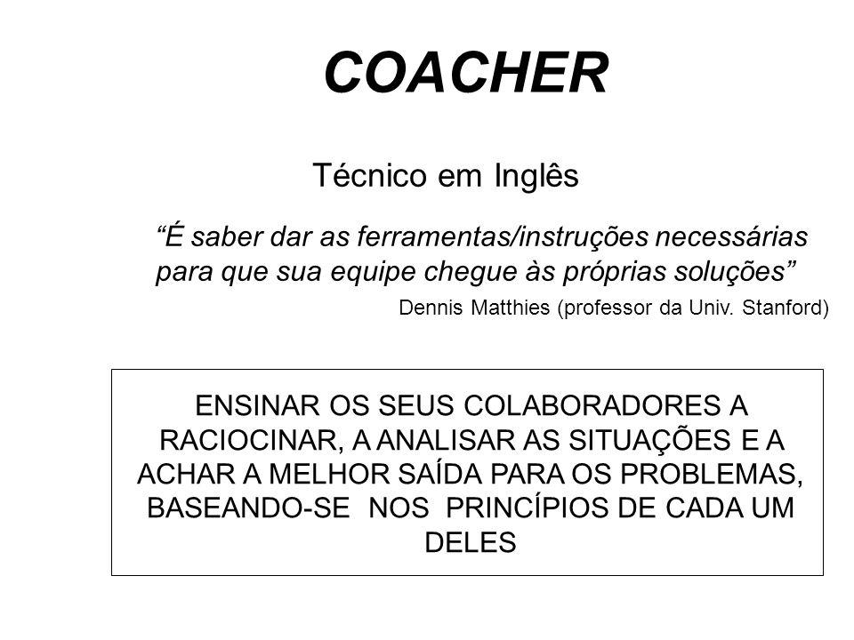 """Técnico em Inglês """"É saber dar as ferramentas/instruções necessárias para que sua equipe chegue às próprias soluções"""" Dennis Matthies (professor da Un"""