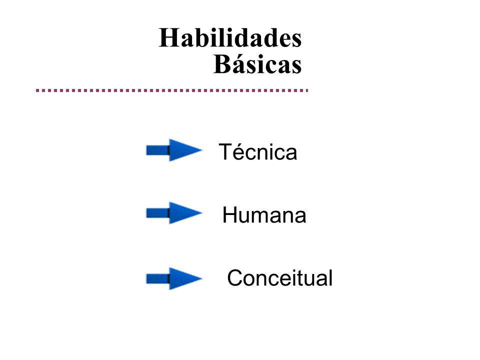 Habilidades Básicas Técnica Humana Conceitual