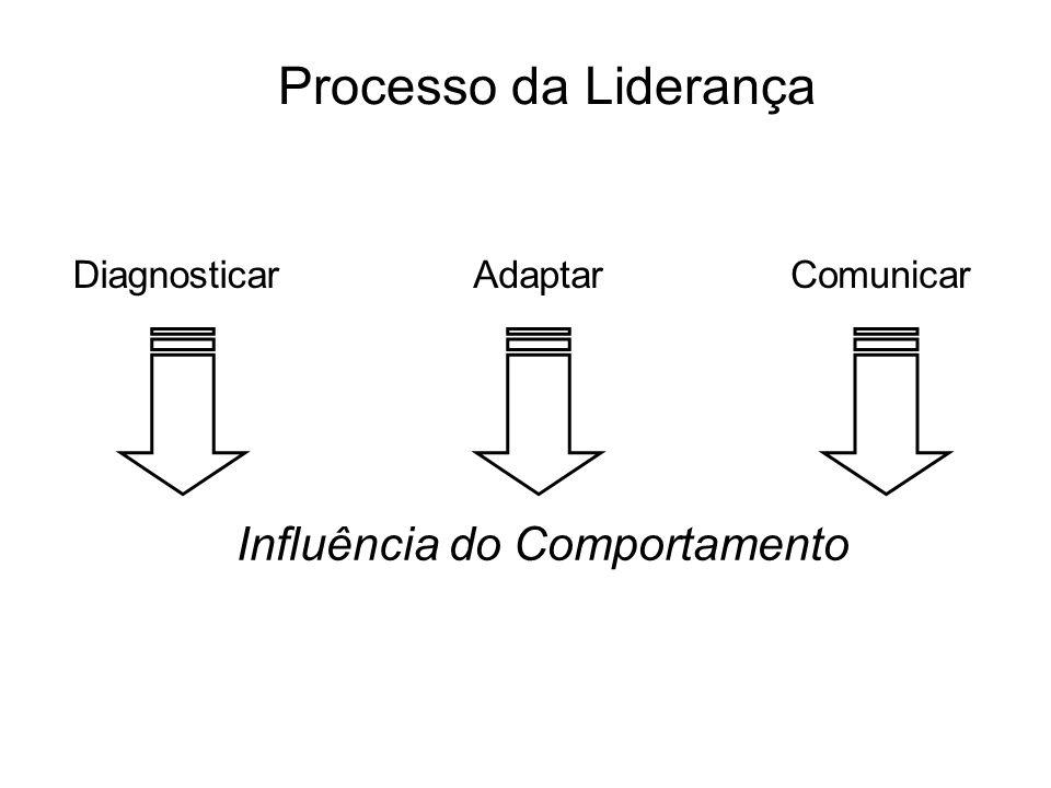 Processo da Liderança DiagnosticarAdaptarComunicar Influência do Comportamento