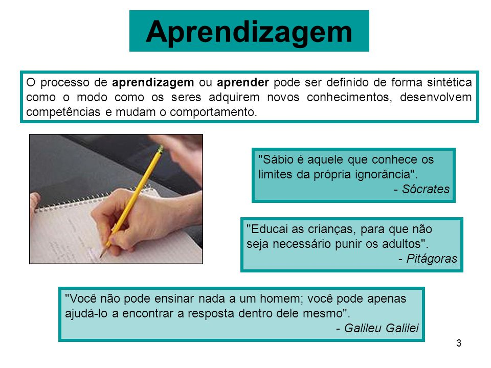 3 Aprendizagem