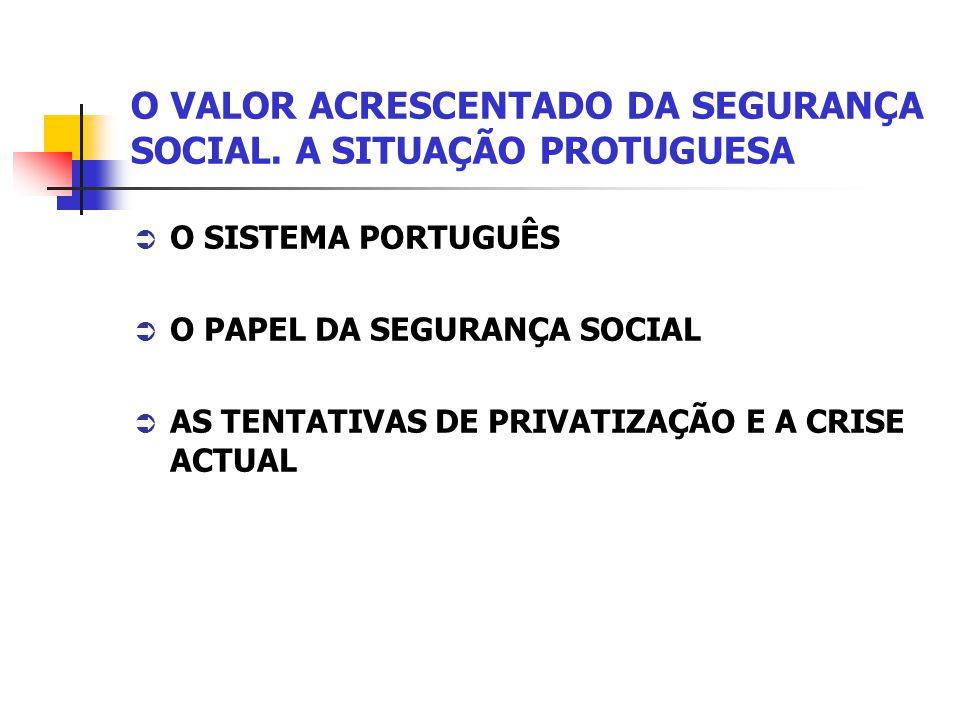 O VALOR ACRESCENTADO DA SEGURANÇA SOCIAL.